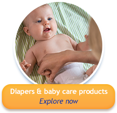 Diapers & baby care products - Explore now